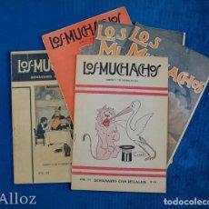 Coleccionismo de Revistas y Periódicos: LOTE DE 5 NÚMEROS DEL SEMANARIO LOS MUCHACHOS.AÑO 1916. Lote 202819110