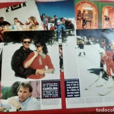 Coleccionismo de Revistas y Periódicos: CAROLINA MONACO STEFANO CASIRAGHI FOTOS ERICH MAIR-Y ENTREVISTAS INES FRESSANGE -RECORTE- AÑO 1992. Lote 202983136