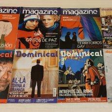 Coleccionismo de Revistas y Periódicos: 8 REVISTAS MAGAZINE, DOMINICAL. EL PERIÓDICO. Lote 203000203