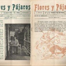 Coleccionismo de Revistas y Periódicos: 2 EJEMPLARES FLORES Y PÁJAROS REVISTA SOCIEDAD PROTECTORA ANIMALES Y PLANTAS DE SEVILLA 1956. Lote 203064592