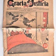 Coleccionismo de Revistas y Periódicos: GRACIA Y JUSTICIA ÓRGANO EXTREMISTA DEL HUMORISMO POPULAR Nº 95 - 14 OCTUBRE 1933. Lote 203382500