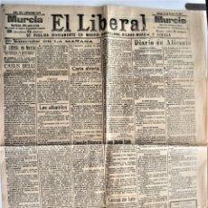 Coleccionismo de Revistas y Periódicos: EL LIBERAL Nº 5282 - 13 FEBRERO DE 1917 - EDITADO EN MURCIA - BLANCA, ABARÁN, JUMILLA. Lote 203383363