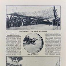 Coleccionismo de Revistas y Periódicos: RECORTES DE PRENSA CARRERA DE COCHES BARCELONA 1910..COPA DE CATALUNYA. Lote 203446223