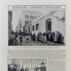 Coleccionismo de Revistas y Periódicos: RECORTES DE PRENSA LOCALES DE LA COCINA ECONÓMICA DE GRACIA.BARCELONA 1910... Lote 203447663