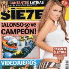 Coleccionismo de Revistas y Periódicos: SIETE CARMEN ELECTRA. Lote 203618076