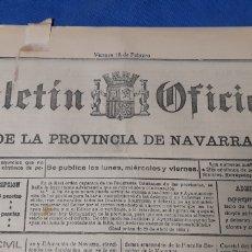 Colecionismo de Revistas e Jornais: BOLETÍN OFICIAL DE LA PROVINCIA DE NAVARRA 1938 NÚMERO 21. Lote 203767062