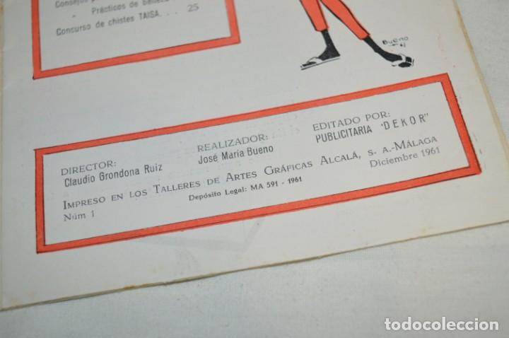 Coleccionismo de Revistas y Periódicos: Revista TAISA (Málaga) / Diciembre 1961 - Número 1 - Raro ejemplar, 1º número editado ¡Muy difícil! - Foto 4 - 204086756
