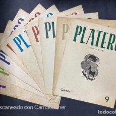 Coleccionismo de Revistas y Periódicos: REVISTA PLATERO. CADIZ. Nº DEL 1 AL 9. RARISIMO. 1951. VER FOTOS.. Lote 204122463