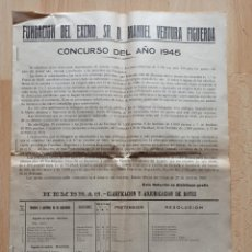 Collezionismo di Riviste e Giornali: FUNDACIÓN MANUEL VENTURA FIGUEROA, AÑO 1945. SANTIAGO DE COMPOSTELA. LA CORUÑA, GALICIA.. Lote 204140736