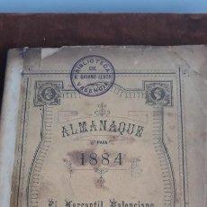 Coleccionismo de Revistas y Periódicos: ALMANAQUE PARA 1884 EL MERCANTIL VALENCIANO. Lote 204145631