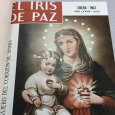Coleccionismo de Revistas y Periódicos: EL IRIS DE PAZ REVISTA CATÓLICA, 2 AÑOS COMPLETOS 24 NÚMEROS ENCUADERNADOS 1962 Y 1963. Lote 204192175