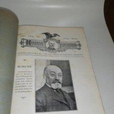Coleccionismo de Revistas y Periódicos: HISPANA ESPERANTISTO, LAS 12 PRIMERAS REVISTAS 1917 ENCUADERNADAS. Lote 204218861