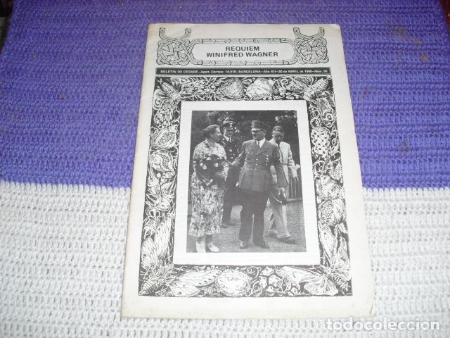REQUIEM WINIFRED WAGNER - BOLETÍN DE CEDADE Nº 89 - (Coleccionismo - Revistas y Periódicos Modernos (a partir de 1.940) - Otros)