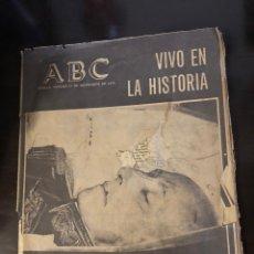 Coleccionismo de Revistas y Periódicos: ABC SEVILLA - 21 NOVIEMBRE 1975 - VIVO EN LA HISTORIA.- FRANCO HA MUERTO. Lote 204325963