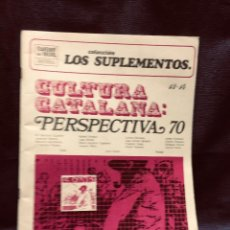 Colecionismo de Revistas e Jornais: CUADERNOS PARA EL DIALOGO COLECCION SUPLEMENTOS NUM 13 14 CULTURA CATALANA PERSPECTIVA 70 27X22CMS. Lote 204391895
