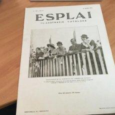 Coleccionismo de Revistas y Periódicos: ESPLAI IL.LUSTRACIO CATALANA 29 JULIOL 1934 ANDORRA, VOLTA CICLISTA FRANÇA (AB-2). Lote 261130520