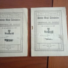 Coleccionismo de Revistas y Periódicos: DOS BOLETINES OFICIAL ECLESIASTICO OBISPADO DE OVIEDO. Lote 204470445