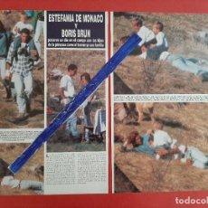 Coleccionismo de Revistas y Periódicos: ESTEFANIA MONACO Y BORIS BRUN- RECORTE 2 PAG- AÑO 1997. Lote 204485850
