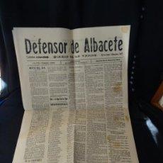 Coleccionismo de Revistas y Periódicos: AÑO 1916. EL DEFENSOR DE ALBACETE, PERIODICO.SUCESOS, NOTAS SOCIEDAD, PUBLICIDAD, POLITICA, ETC. Lote 204519525