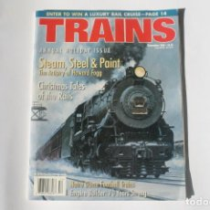 Coleccionismo de Revistas y Periódicos: REVISTA TRAINS. DECEMBER 2000. ANNUAL HOLIDAY ISSUE. EN INGLÉS.. Lote 204979901