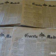 Coleccionismo de Revistas y Periódicos: LOTE PERIODICO GACETA DE MADRID DICIEMBRE COMPLETO 1869 31 NUMEROS OFERTA. Lote 205135283