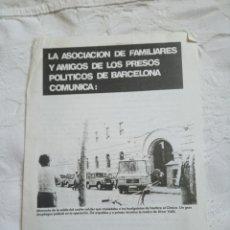 Coleccionismo de Revistas y Periódicos: PUBLICACIÓN POLÍTICA TRANSICIÓN. COMUNISTA.AFFAP. COPEL. PCE R.PCE.PSP.ORT.MCE.PTE.OIC.LCR.CNT.GRAPO. Lote 205264996