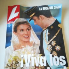 Coleccionismo de Revistas y Periódicos: REVISTA LECTURAS. LA BODA DEL SIGLO. FELIPE Y LETIZIA. Lote 205295965