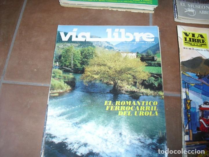 Coleccionismo de Revistas y Periódicos: GRAN LOTE 144 NÚMEROS REVISTA VIA LIBRE RENFE FERROVIARIOS - Foto 3 - 205306130