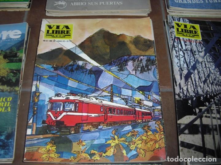 Coleccionismo de Revistas y Periódicos: GRAN LOTE 144 NÚMEROS REVISTA VIA LIBRE RENFE FERROVIARIOS - Foto 4 - 205306130