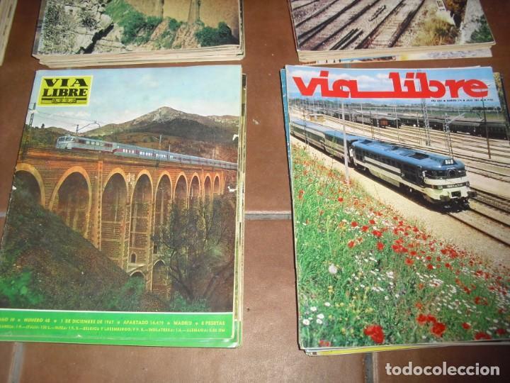 Coleccionismo de Revistas y Periódicos: GRAN LOTE 144 NÚMEROS REVISTA VIA LIBRE RENFE FERROVIARIOS - Foto 6 - 205306130