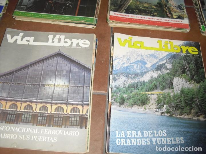 Coleccionismo de Revistas y Periódicos: GRAN LOTE 144 NÚMEROS REVISTA VIA LIBRE RENFE FERROVIARIOS - Foto 8 - 205306130