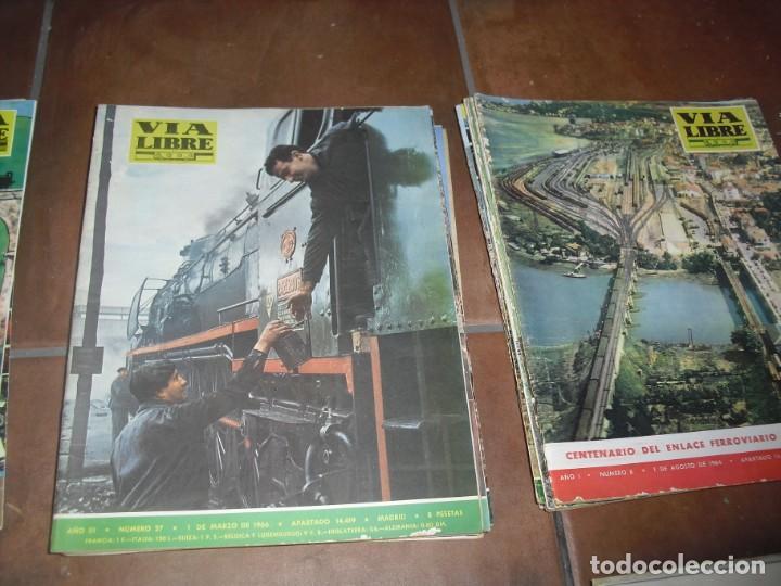 Coleccionismo de Revistas y Periódicos: GRAN LOTE 144 NÚMEROS REVISTA VIA LIBRE RENFE FERROVIARIOS - Foto 11 - 205306130