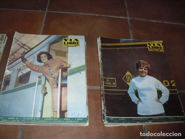 Coleccionismo de Revistas y Periódicos: GRAN LOTE 144 NÚMEROS REVISTA VIA LIBRE RENFE FERROVIARIOS - Foto 12 - 205306130