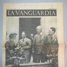Coleccionismo de Revistas y Periódicos: PORTADA DIARIO LA VANGUARDIA BARCELONA, SÁBADO 29 MAYO 1937, LA ESTANCIA EN CATALUÑA DE MR. THOMAS. Lote 205438491