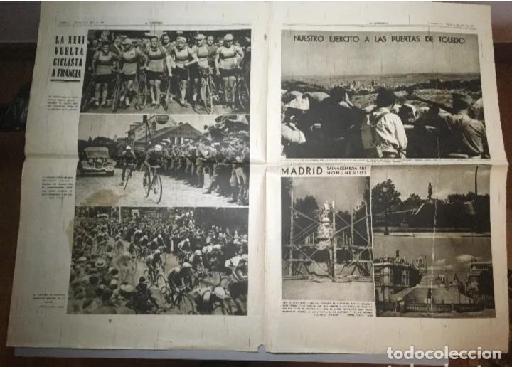 Coleccionismo de Revistas y Periódicos: PORTADA Diario La Vanguardia Barcelona, Martes 6 Julio 1937, En Homenaje Al Glorioso General Miaja - Foto 2 - 205439673