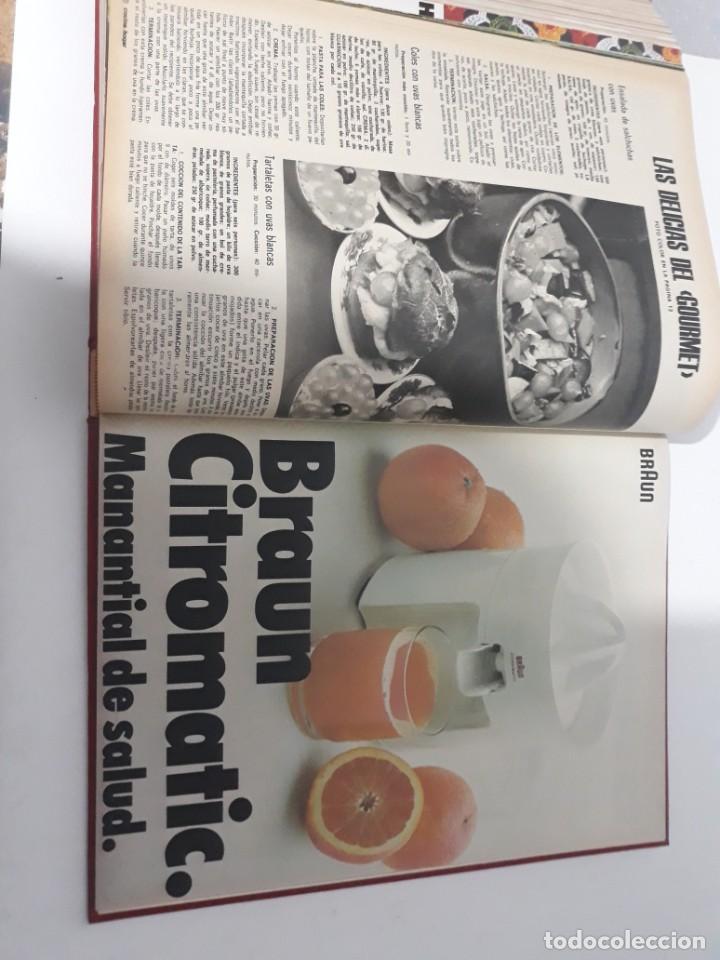 Coleccionismo de Revistas y Periódicos: Revistas encuadernadas- cocina y hogar/ 1974,del n°129 al 140 - Foto 3 - 205442017
