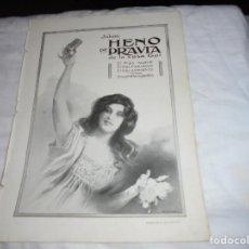 Coleccionismo de Revistas y Periódicos: PUBLICIDAD JABON HENO DE PRAVIA/MODAS MASCULINAS ES USTED CAZADO HOJA DE REVISTA BLANCO Y NEGRO 1912. Lote 205448157