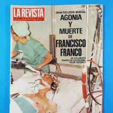 Coleccionismo de Revistas y Periódicos: LA REVISTA DEL MUNDO Nº 4 29.10.1984, AGONIA Y MUERTE DE FRANCISCO FRANCO, 146 PAGINAS. Lote 205528932