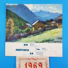 Coleccionismo de Revistas y Periódicos: CALENDARIO DE PARED MENTOBOX 1969 COMPLETO 21,50 X 23 CM LA LAMINA. Lote 205529878
