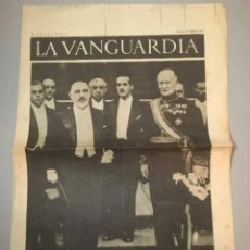 Coleccionismo de Revistas y Periódicos: PORTADA - DIARIO LA VANGUARDIA BARCELONA, SÁBADO 17 JUNIO 1937, EL EMBAJADOR DE ESPAÑA EN PARÍS. Lote 205539226