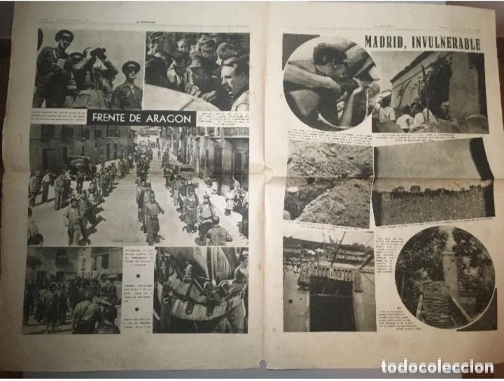 Coleccionismo de Revistas y Periódicos: PORTADA - Diario La Vanguardia Barcelona, Sábado 12 Junio 1937, En La Cuesta De Las Perdices - Foto 2 - 205547477