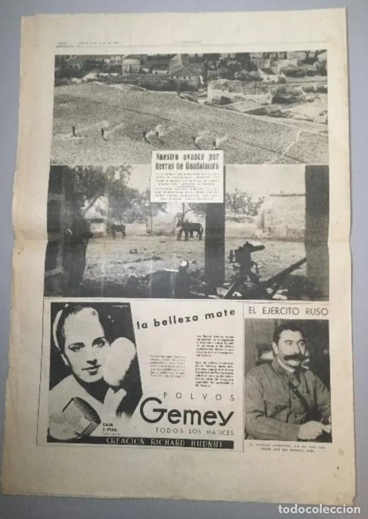 Coleccionismo de Revistas y Periódicos: PORTADA - Diario La Vanguardia Barcelona, Sábado 12 Junio 1937, En La Cuesta De Las Perdices - Foto 3 - 205547477