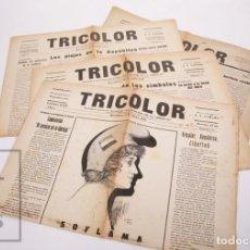 Coleccionismo de Revistas y Periódicos: CONJUNTO DE 4 ANTIGUAS PUBLICACIONES REPUBLICANAS TRICOLOR, NÚM. 2, 3, 4 Y 7 - REPÚBLICA, AÑO 1932. Lote 205672441
