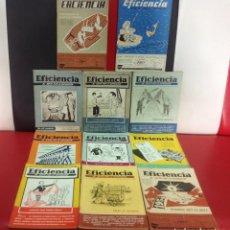 Coleccionismo de Revistas y Periódicos: LOTE DE 11 REVISTAS EFICIENCIA, PRINCIPIO AÑOS 50. Lote 205706081