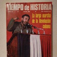 Coleccionismo de Revistas y Periódicos: REVISTA - TIEMPO DE HISTORIA - POLITICA - LARGA MARCHA REVOLUCION CUBANA - NUM . 25. Lote 205753505