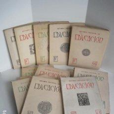 Coleccionismo de Revistas y Periódicos: REVISTA NACIONAL DE EDUCACIÓN. DIR. PEDRO ROCAMORA. MINISTERIO DE EDUCACIÓN NACIONAL. 1946 - 1951.. Lote 205772957