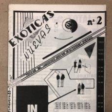 Coleccionismo de Revistas y Periódicos: EXÓTICAS NUEVAS N° 2 (BARCELONA 1983). HISTÓRICO FANZINE ORIGINAL (FELIX MENKAR, AKODURAS, SABATER,.. Lote 205774321