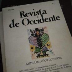 Coleccionismo de Revistas y Periódicos: REVISTA DE OCCIDENTE. ANTES LOS AÑOS OCHENTA. Nº 1 1980. Lote 205852400