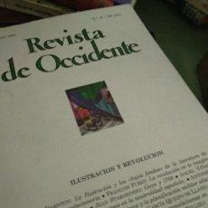 Coleccionismo de Revistas y Periódicos: REVISTA DE OCCIDENTE. Nº 41. ILUSTRACIÓN Y REVOLUCIÓN. R. DARNTON: LA ILUSTRACIÓN Y LOS BAJOS FONDOS. Lote 205852428