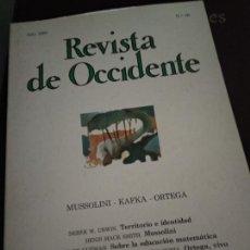 Coleccionismo de Revistas y Periódicos: REVISTA DE OCCIDENTE, AÑO 1983, N. 26, MUSSOLINI KAFKA ORTEGA. Lote 205852451